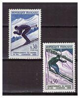 S24808) France 1962 MNH Skiing World Championship 2v