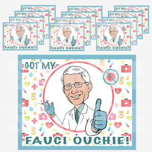 """Got My Fauci Ouchie Stickers Favor Gift Bag Label 3.75"""" x 4.75""""  -12 pcs"""