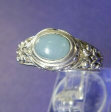 Chalcedony 0.925 Sterling Silver estate band Ring size 8