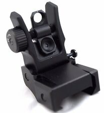 UTG Low Profile Flip-up BUIS Folding Rear Sight  Iron Sights Weaver Rail Mount