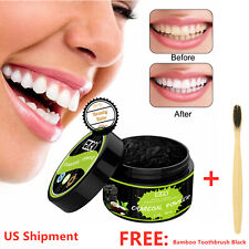 Charcoal Teeth Whitening Powder Mint flavor 100%Natural Organic Activated Bamboo