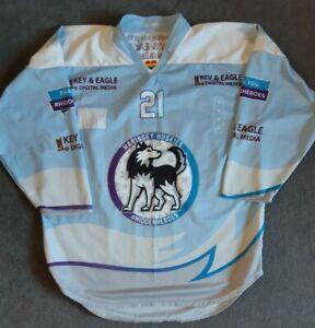 Haringey Huskies ice hockey game worn warm up shirt jersey, XL