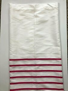 NEW Kate Spade Pink White Striped Shower Curtain Fabric