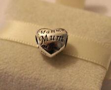 Genuine Pandora Sterling Silver Mum Heart Charm 791112
