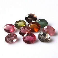 5X4 MM Oval Cut Natural Multi Color Tourmaline Faceted Gemstone 10 Pieces Lot