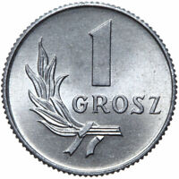 Polen - Münze - 1 Grosz 1949 - Aluminium - Stempelglanz UNC