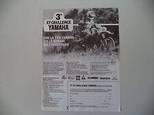 advertising Pubblicità 1986 YAMAHA 600 XT/TT e XT 3° CHALLENGE