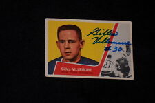 GILLES VILLEMURE 1963-64 TOPPS ROOKIE SIGNED AUTOGRAPHED CARD #46 NY RANGERS