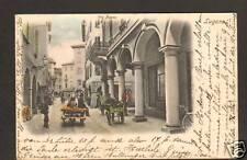 LUGANO (SUISSE) Attelages ,VIA NASSA avant 1904