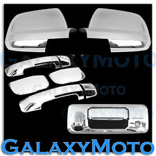 14-16 TUNDRA Double Cab Chrome FULL Mirror+ 4 Door Handle+Tailgate Cam. Cover