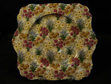 "NICE ROYAL WINTON ""MARQUERITE"" CHINTZ SQUARE CAKE PLATE"