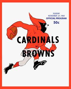 St LouisCardinals Football Team - 8x10 Color Photo of Inagural Season Program