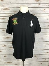 New Ralph Lauren Mens Marine Supply Black Polo Shirt