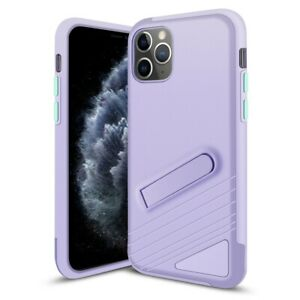 iPhone 11 Pro Max Case PC & TPU Protective Cover w/ Magnetic Kick Stand Purple