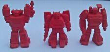 TRANSFORMERS G1 DECOYS LOT SUNSTREAKER SKIDS TRAILBREAKER RED RUBBER ROBOTS