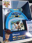 Disney Toy Story 4 Bluetooth MP3 Karaoke Machine w/ LED Light Show 100s Songs