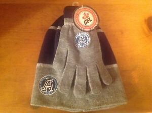 CFL-TORONTO ARGONAUTS- HAT/TOGUE AND GLOVES-BRAND NEW-TAGS-ONE SIZE FITS ALL-NEW