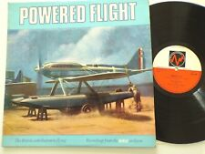 Powered Flight - British flying Aviation BBC Spoken Word vinyl LP Nr Mint REB40M
