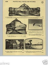 1932 PAPER AD Mirror Frame Painted Wall Piece Buffet Fireplace Mantel Decoration
