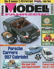 Modell Fahrzeug 2005 3/05 Magazin Audi A6 Honda CB 750 Lanz MV Agusta 500 SLR