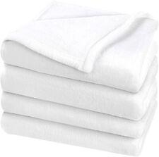 King Size Fleece Blanket Throw Soft Flannel Silky Plush Luxury Sofa Bed White