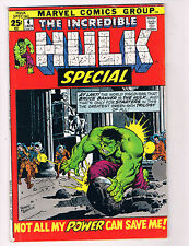 The Incredible Hulk Special #4 VG Marvel Comic Book Avengers Jan 1972 DE29