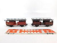 CF937-0,5# 2x Märklin H0/AC 4612 Autotransportwagen 315/4 DB, 1-mal gealtert
