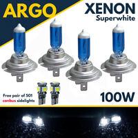 4 X H7 100w Super White Xenon Upgrade Headlight Bulbs Set 499 12v Full/dipped