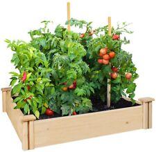 Raised Garden Bed Wooden Planter Box 42 x 42 x 5.5in Cedar Wood Rot Resistant
