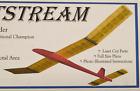 """JETSTREAM"", Laser Cut, Free Flight Kit, W/S 48"" Nordic A1 Glider"
