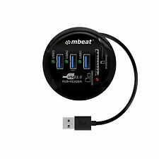 mbeat Portable USB 3.0 Hub MTT and Card Reader round design mbeat