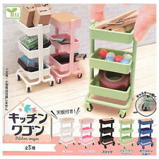 Yell Capsule Gashapon Kitchen Wagon Movable Storage Furniture Full Set 5 pieces