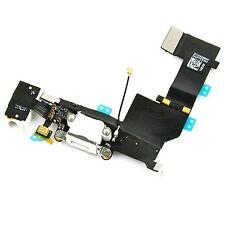 FLEX DOCK CARGA DATOS + CONECTOR JACK AURICULAR + MICROFONO IPHONE 5S BLANCO