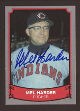 Mel Harder (1909-2002)--Autographed 1989 Baseball Legends--Cleveland Indians