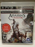 Assassin's Creed III 3 Signature Edition Sony PlayStation 3 PS3 - COMPLETE CIB