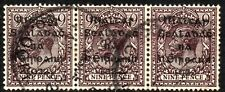 1922 Ireland Sg 8 9d agate Strip of 3 Good to Fine Used