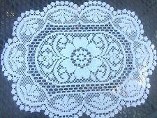 Vintage Crochet Lace Table Doiie- Ivory