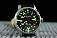 Mechanical Wrist (Hand) Watch POLJOT Aviator-24 hours Dial