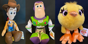 """VERY LARGE TOY STORY 4 SOFT TOY - DUCKY, BUZZ OR WOODY 15"""" - 22"""" LICENCED"""
