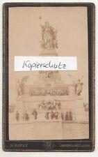 CdV Foto Niederwalddenkmal Rüdesheim am Rhein um 1880 ! (F1698