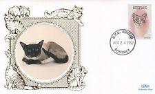 (81129) Dominica Benham FDC Cats 1997