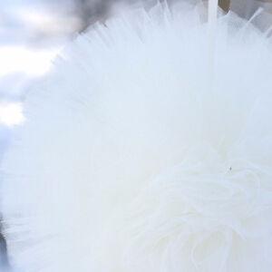 Ivory tulle pom poms - tutu - wedding party decorations - nursery decor