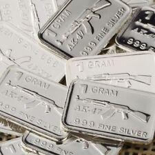 Lot 30 X 1 Gram  .999  Fine Silver Bar Bullion  / AK-47       L5WPT383 oz