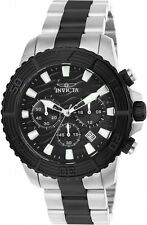 Invicta Mens 46mm Pro Diver Quartz Chronograph Blk Stainless Steel Watch 24004