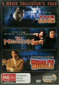 THE ONE / THE MEDALLION / KUNG FU HUSTLE DVD (PAL, 2008) FREE POST