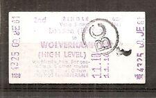 B.R.B. Edmondson Multiprinter Ticket - London Euston to Wolverhampton High Level