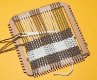 Small easy warping tapestry/weaving set (2 size 2/1 loom,comb, needle,shuttle )