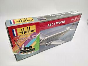 Avion Toucan AAC 1Maquette a monter Heller France echelle 1:72 + colle,peintures