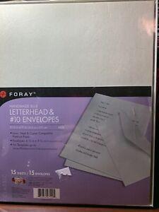 Foray Handmade Letterhead (15)  and # 10 Envelopes (15) NEW OLD STOCK