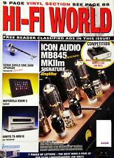HI-FI WORLD SME 3009 UPGRADE TANNOY DC6TSE ONKYO TX NR818 TIVOLI 1 ICON AUDIO